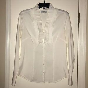 White button down Loft blouse